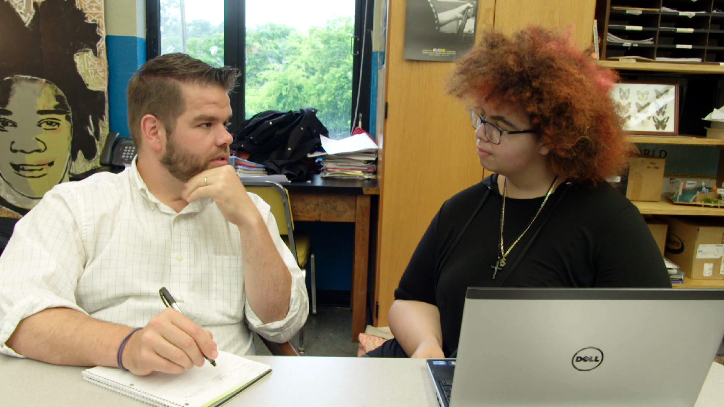 Advisor is working with a student