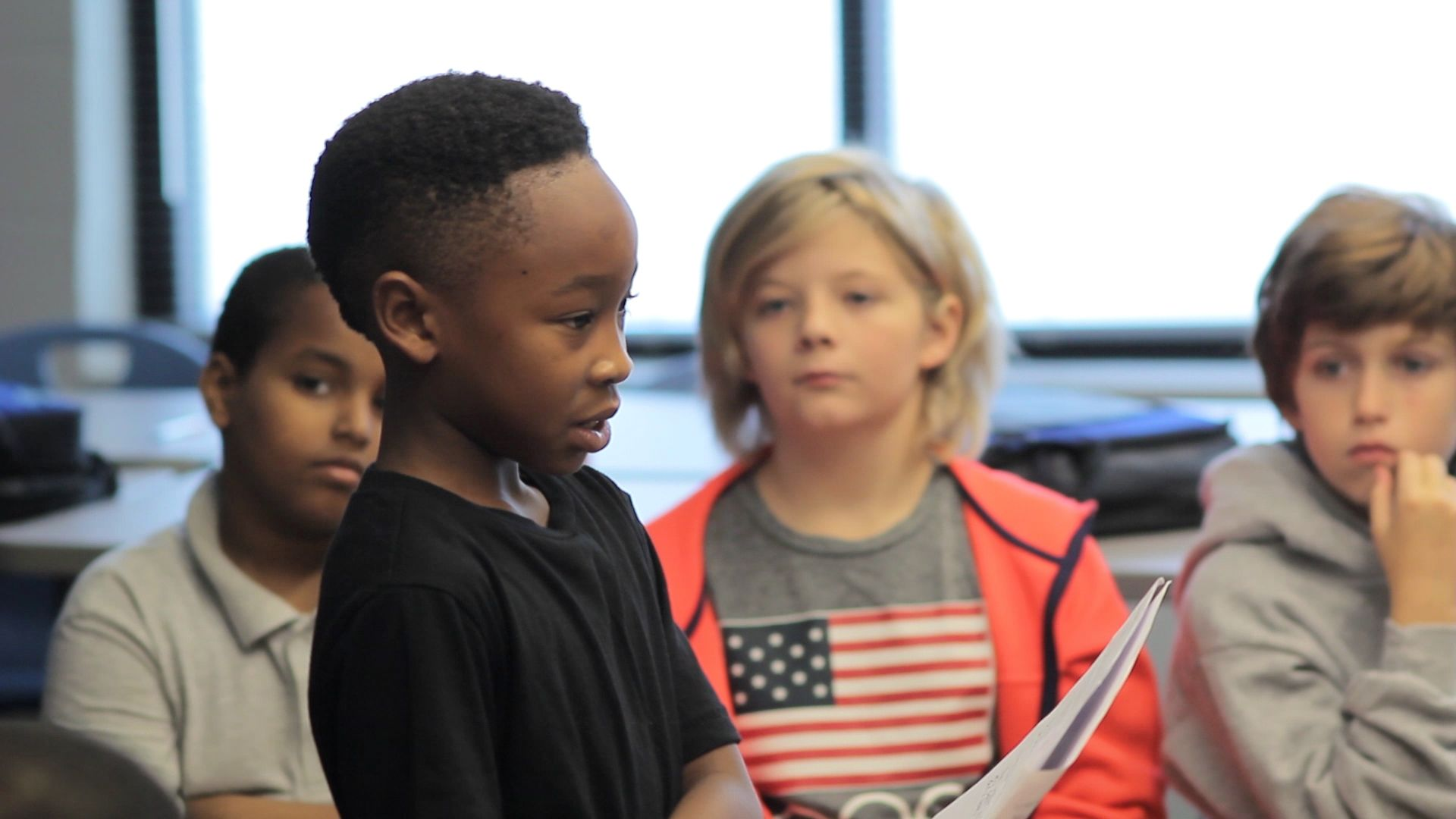Young students develop their SEL skills.