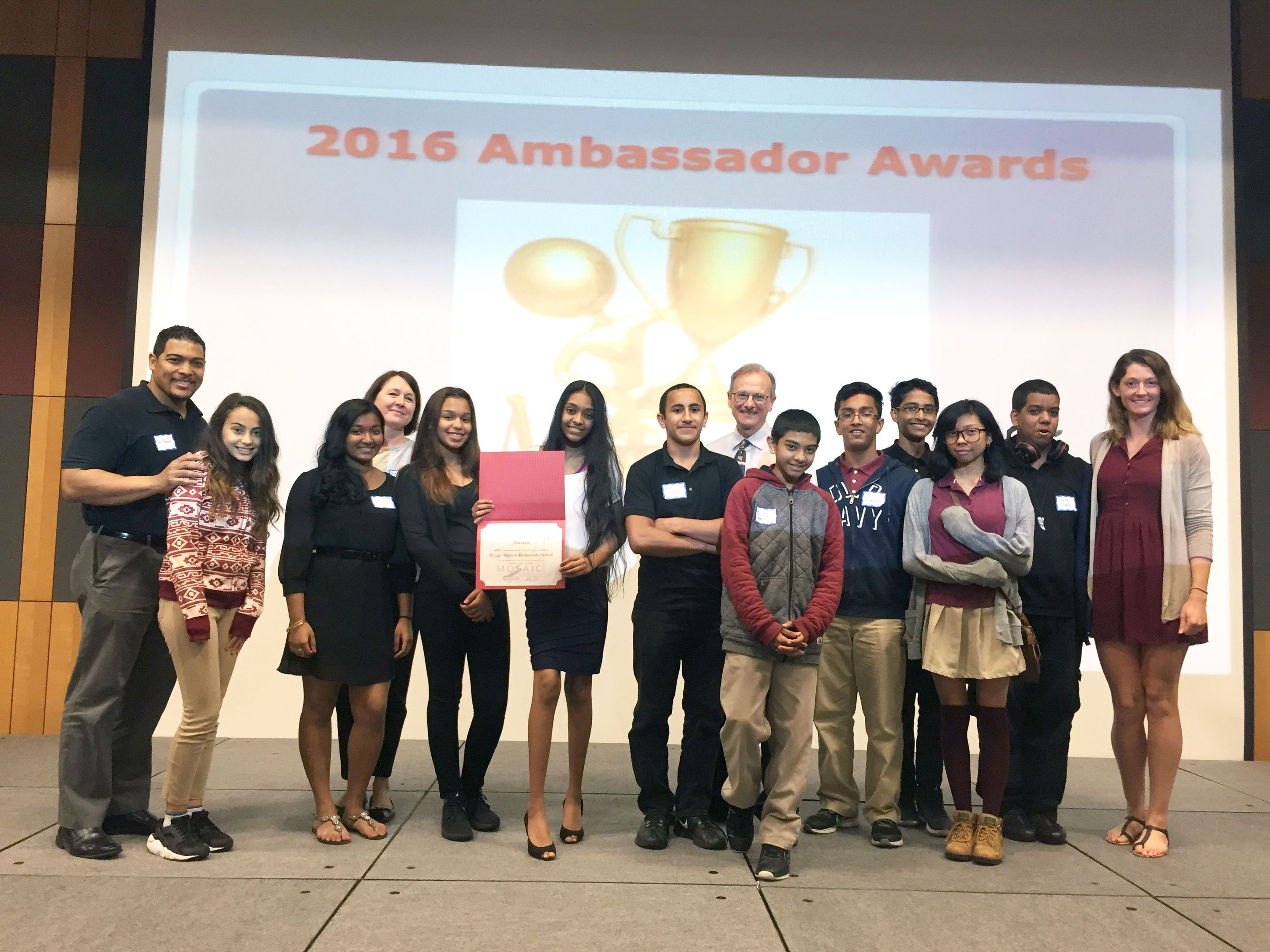 Watters School students at the Ambassador Awards showcase at Rutgers University.