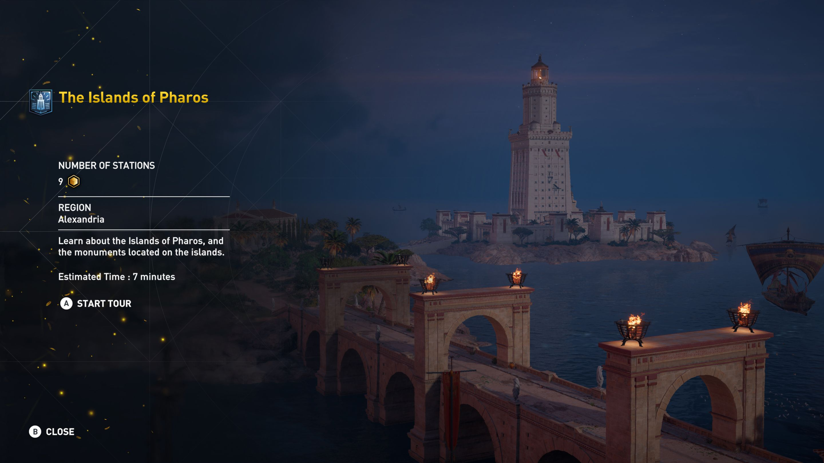 Students can use Assassin's Creed Origins: Discovery Tour to visit the ancient city of Alexandria.