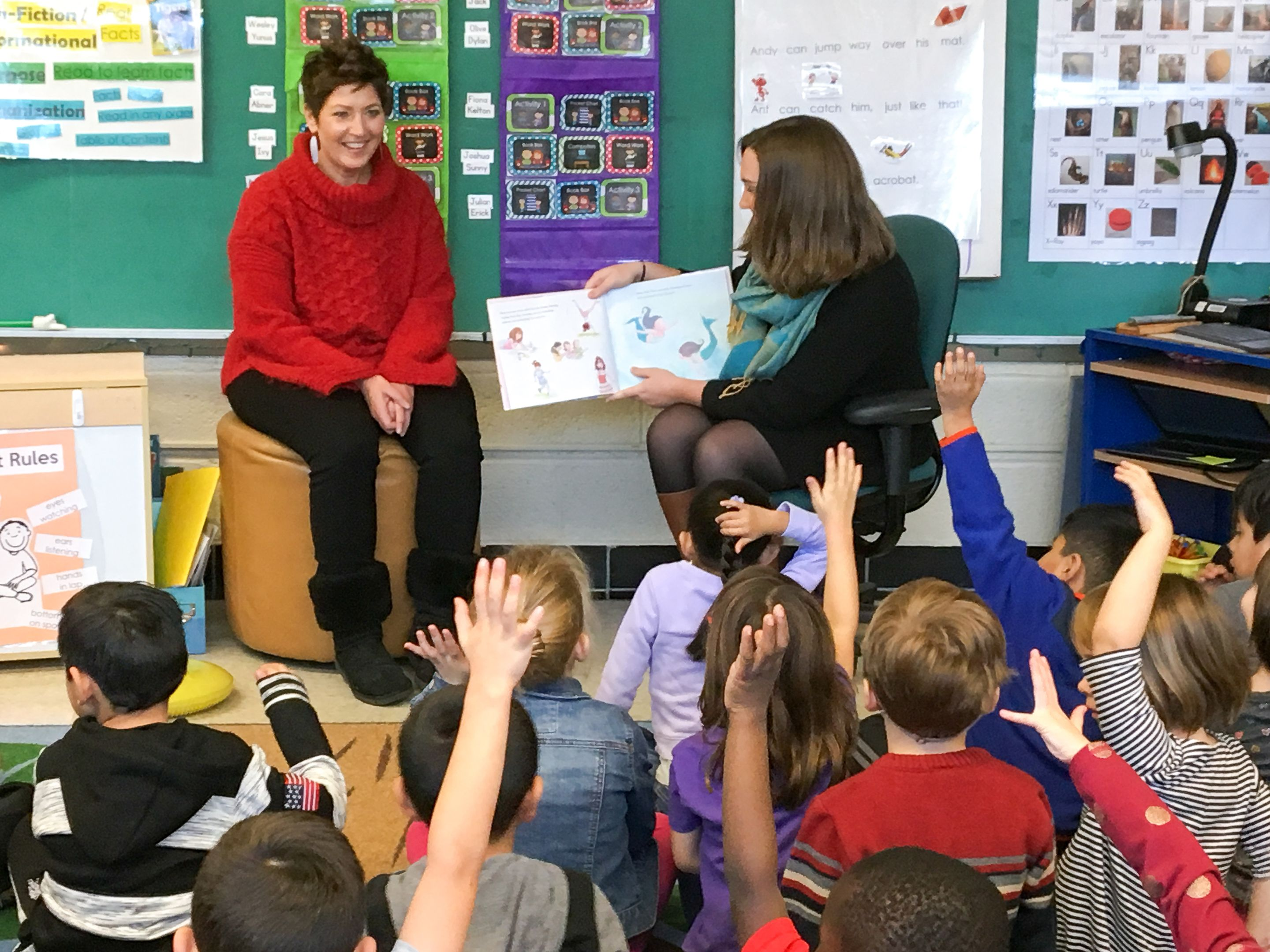 "Staff from Welcoming Schools read ""I Am Jazz,"" a story about a transgender girl, to a kindergarten class in Madison, Wisconsin."