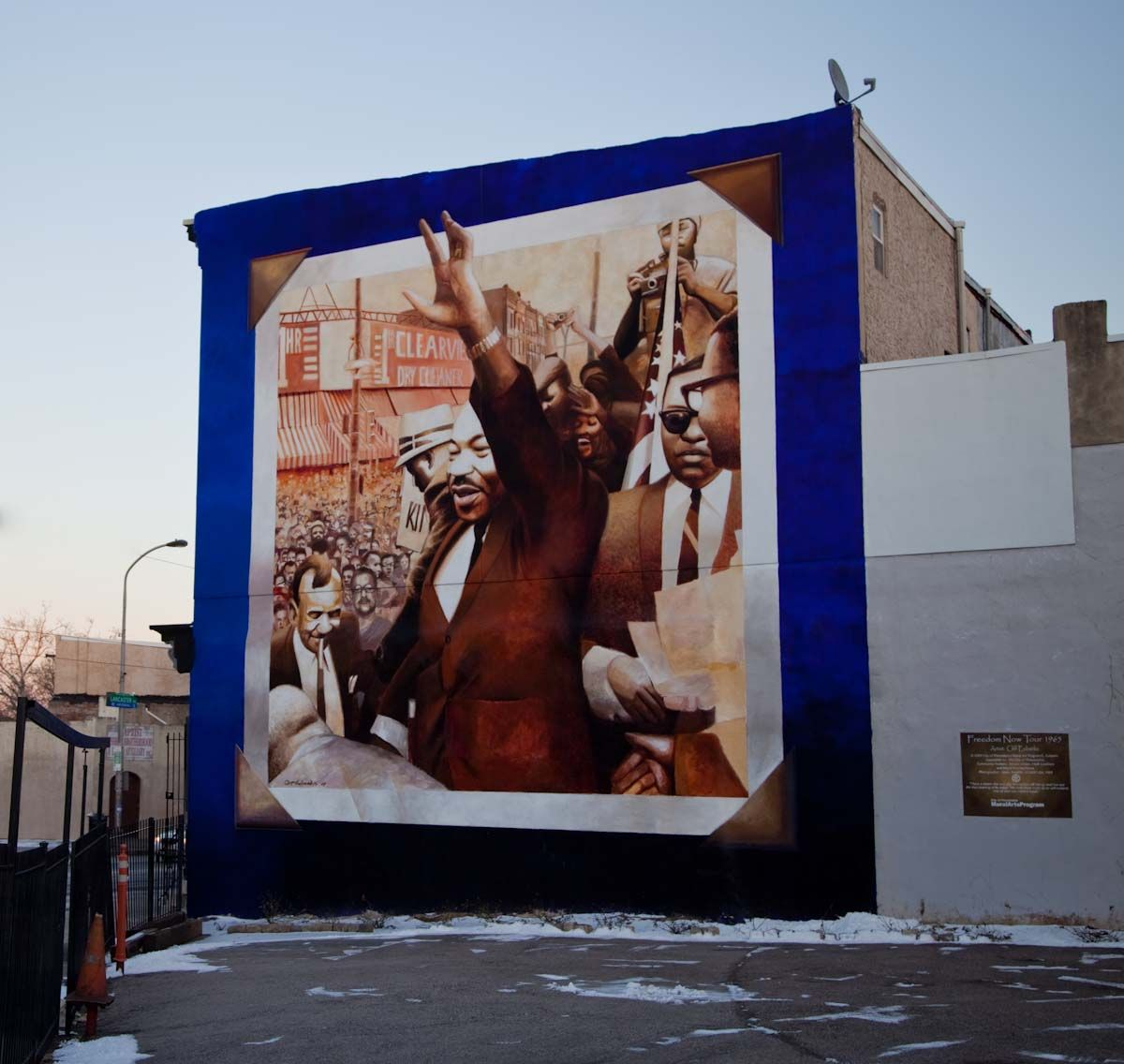 A mural of Dr. Martin Luther King in Philadelphia
