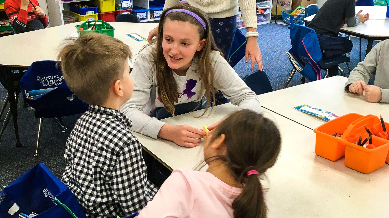 5th grader teacher younger kids
