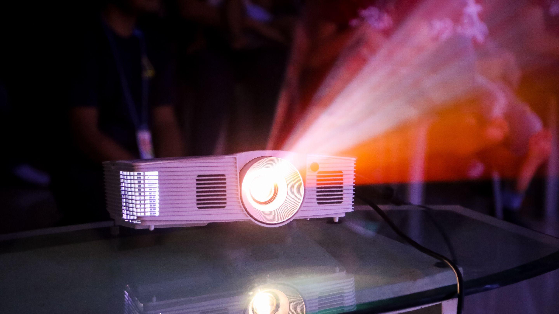 A classroom projector