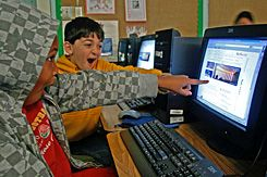 Distance Learning: California students use the GoNorth! Web site.