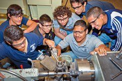 Tools of Change: Hidalgo students earn college credit in a dual-enrollment machinist class held on the high school campus.