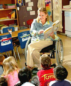 Simpatico: After the accident that paralyzed her lower body, Amanda Trei chose to go into teaching because she feels a kinship with special education students.