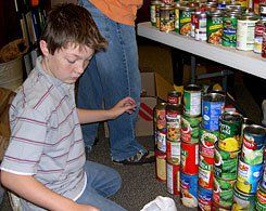 Organizing Change:  A can collection takes shape for the Salvation Army.