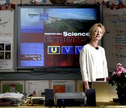 Interactive-whiteboard aficionado Sue Holland.