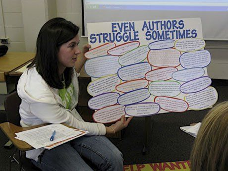 Education students consider what it means to be a writer