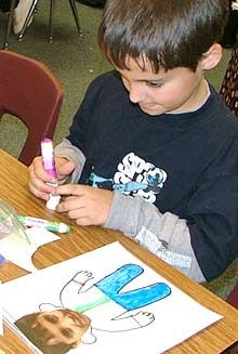 Self-Image:  Students use digital photos of themselves to make their own versions of Flat Stanley.