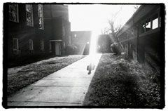 Dark Visions: A student named Katy catches some rays.