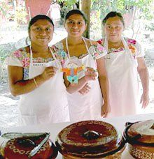 Reaching Out Across Borders:  Flat Stanley meets Mayan women in Mexico.