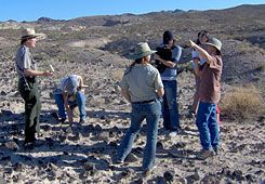 Reconstruction:  National Park Service rangers show Las Vegas students how off-road vehicles destroyed nearby desert habitat and explain what needs to be done to restore the land.