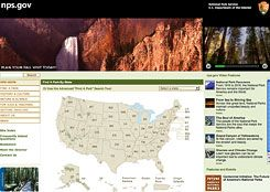 States of Nature: The home page of the National Park Service Web site.