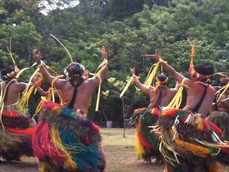 Village dancers perform in Yap, Micronesia. Credit: Suzanne Acord