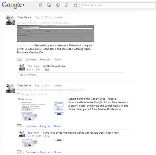 Teaching with Google+   Edutopia