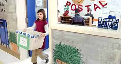 Special Delivery: Making the fictional town of Smartville a reality for all students includes a student-run post office.