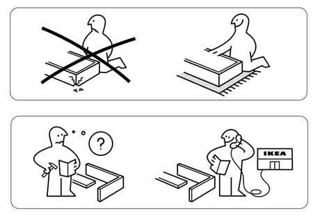 Figure 4. When all three of these criteria work together, then iconography can really take off. The best example of this is IKEA instruction, where the need is to express complex actions without using a specific language.