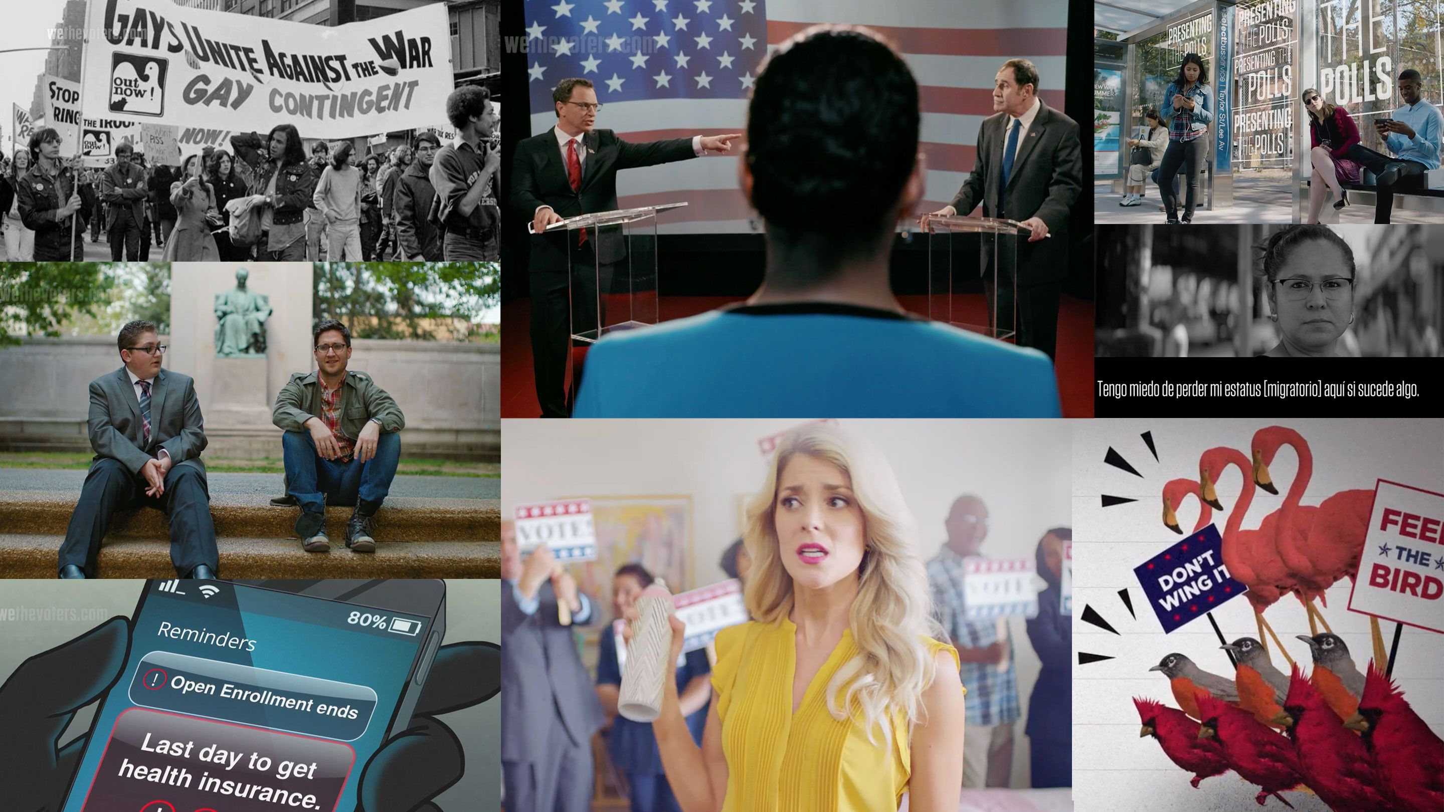 Collage of film screenshots from We The Voters