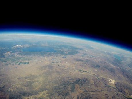 View of Earth from 95,000 feet above