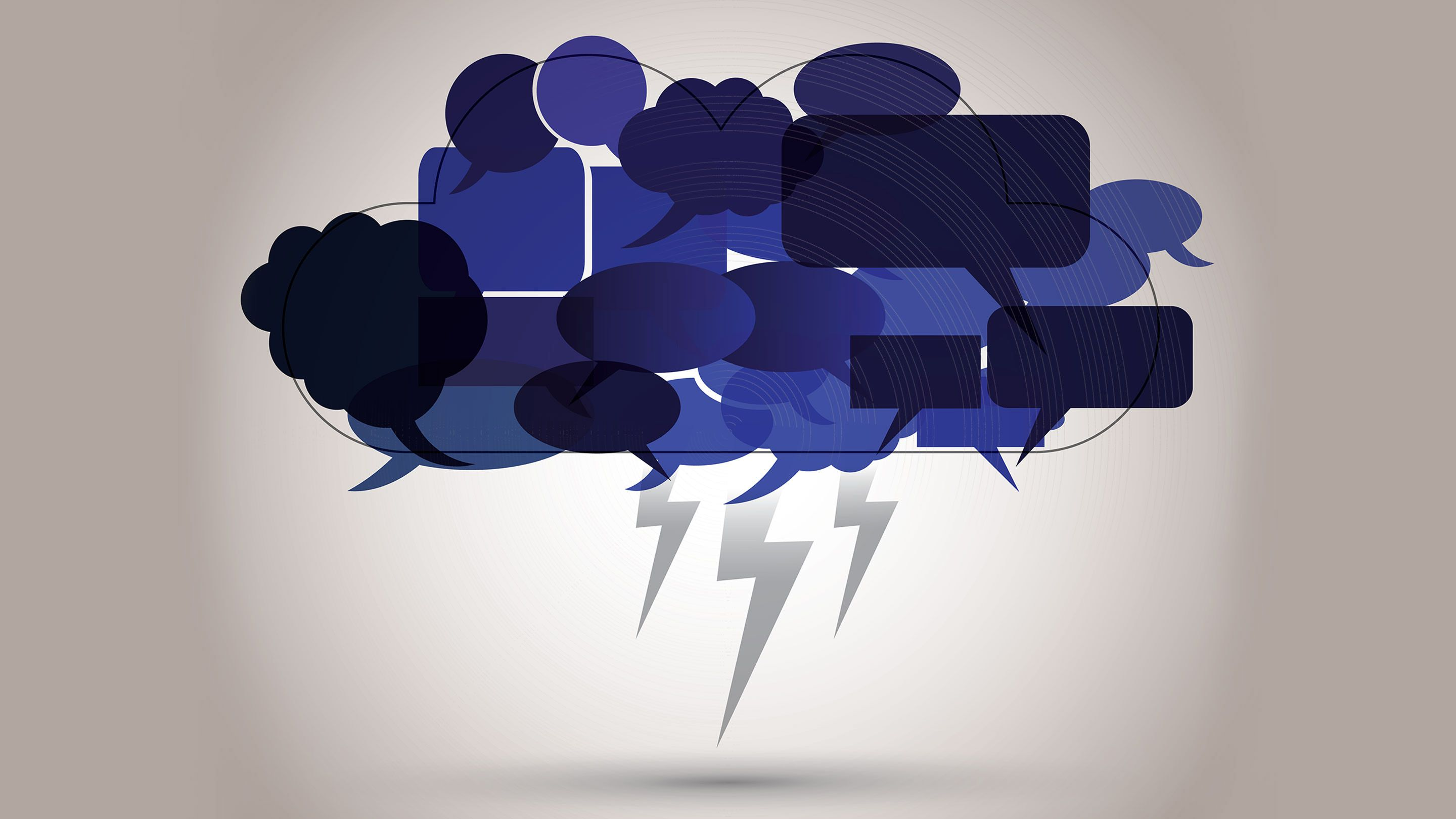 An illustration of a cluster of angry speech bubbles.