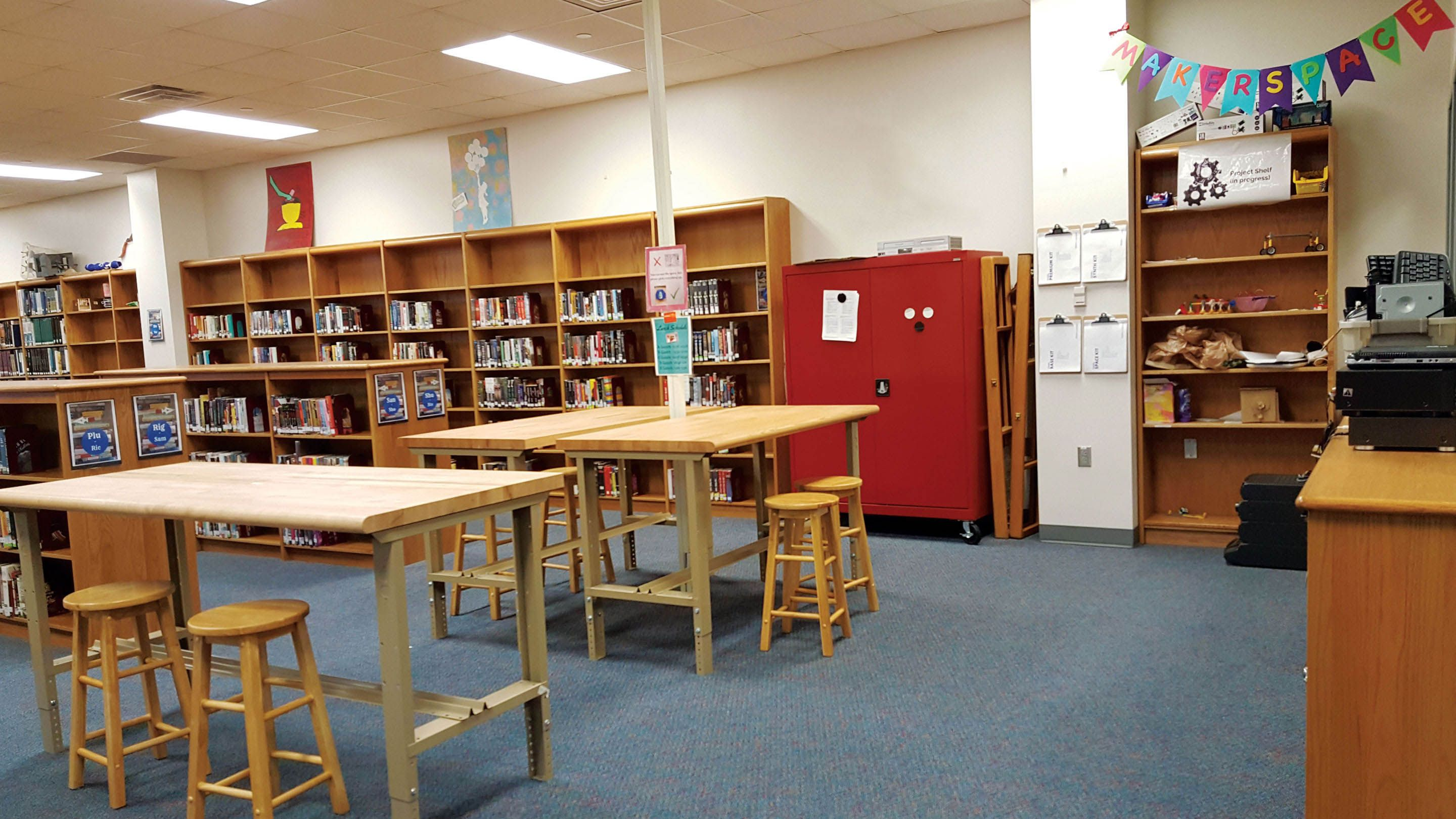 photo of a library-makerspace