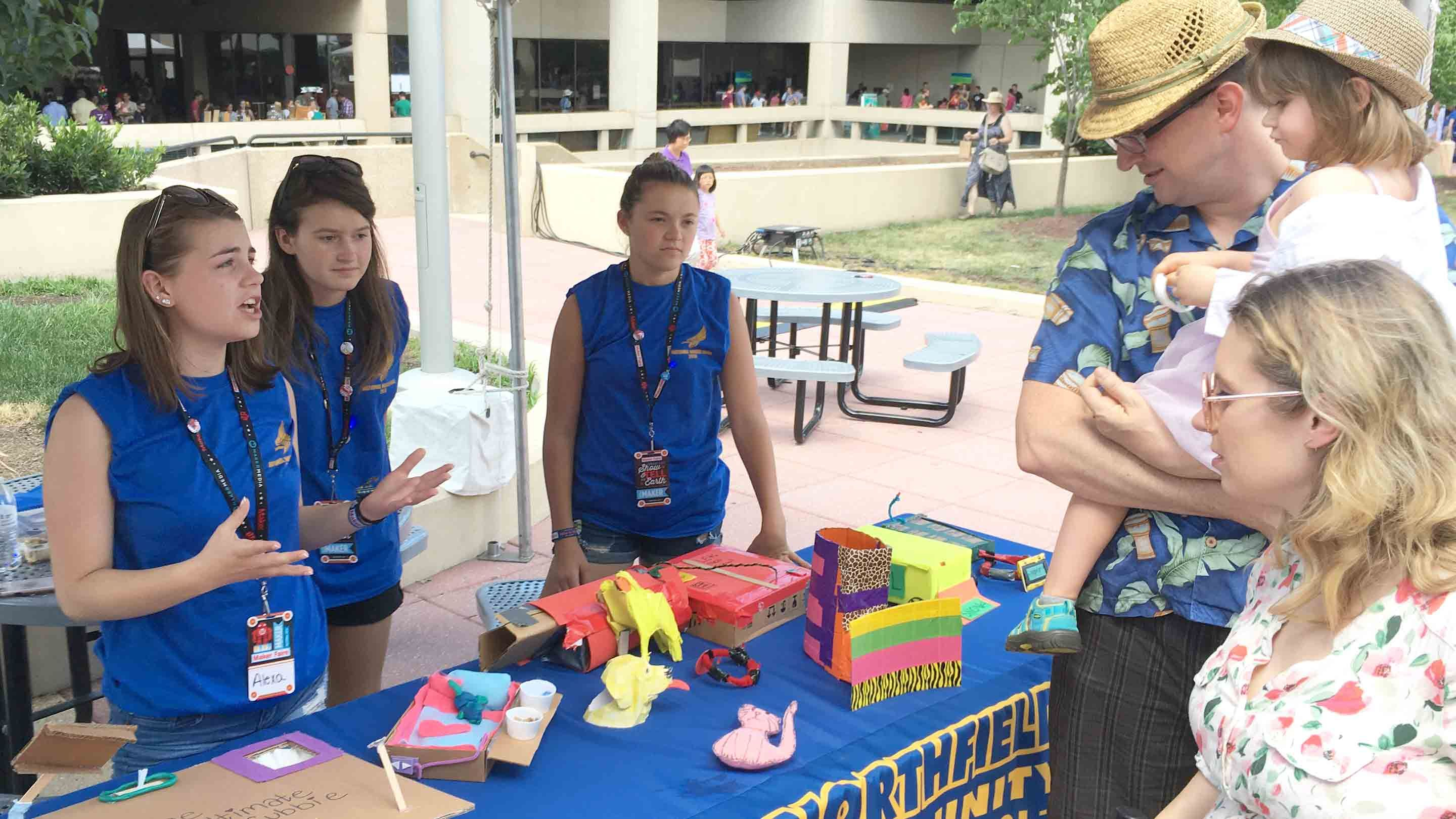 Students present their ideas at the 2016 National Maker Faire.