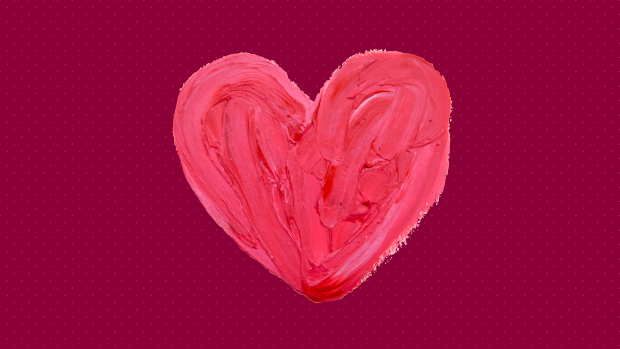 Graphic of a painted heart