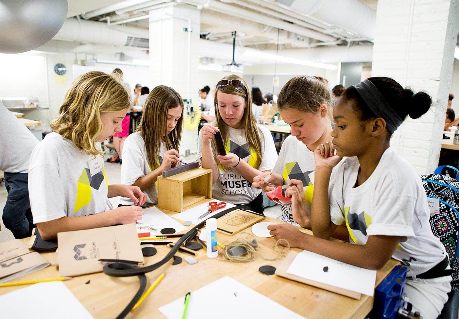 Students traveled to the Kendall College of Art and Design, part of the school's network of partners, to work on a design-thinking challenge.