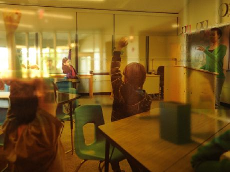 artistic photo of a classroom