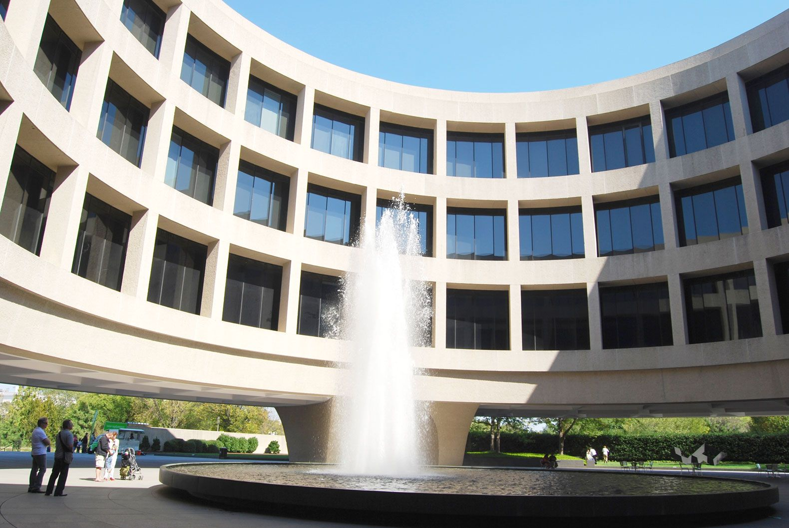 In Washington, DC, students can use their math skills to discuss architectural elements like the curves at the Hirshhorn Museum.