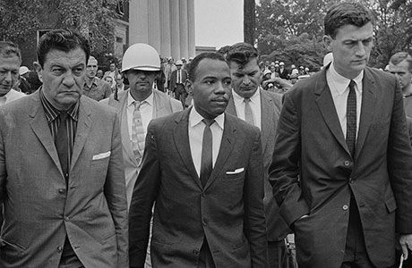 James Meredith exercising his constitutional rights at the University of Mississippi.
