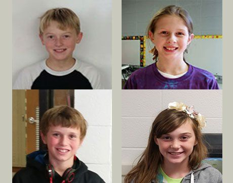 Clockwise from top left: Cameron, Ryle, Sally, and Trent