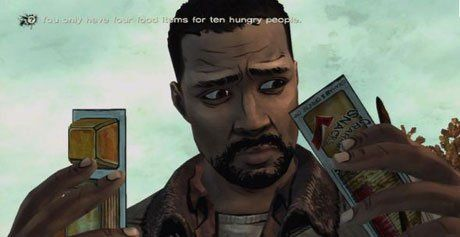A decision about food in The Walking Dead