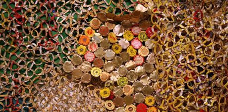 El Anatsui, Nukae-1 (close-up), 2006 (Click image to enlarge)