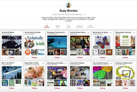Suzy Brooks' Pinterest boards