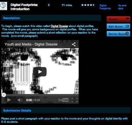 3D Gamelab screenshot: A quest on digital footprints.