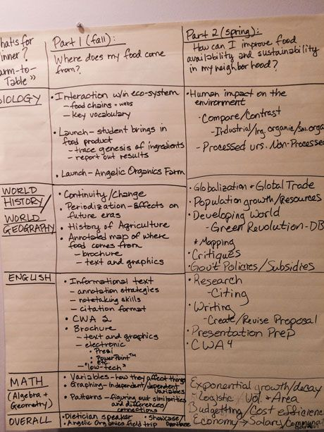 Teachers develop PBL curriculum for the coming year.