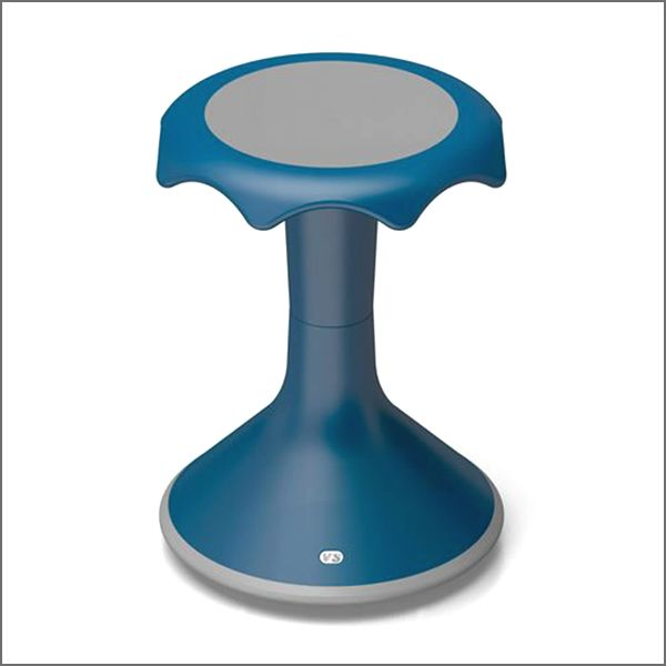 Hokki stools make sitting active by allowing students to rock and twist without distracting others.