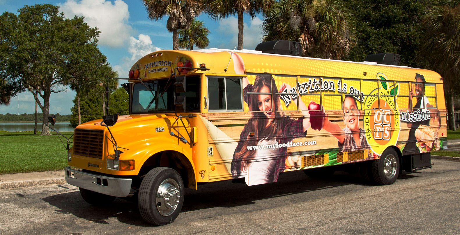 Orange County Public Schools undercuts the stigma around free and reduced-price meals by bringing food to students on this colorful bus.