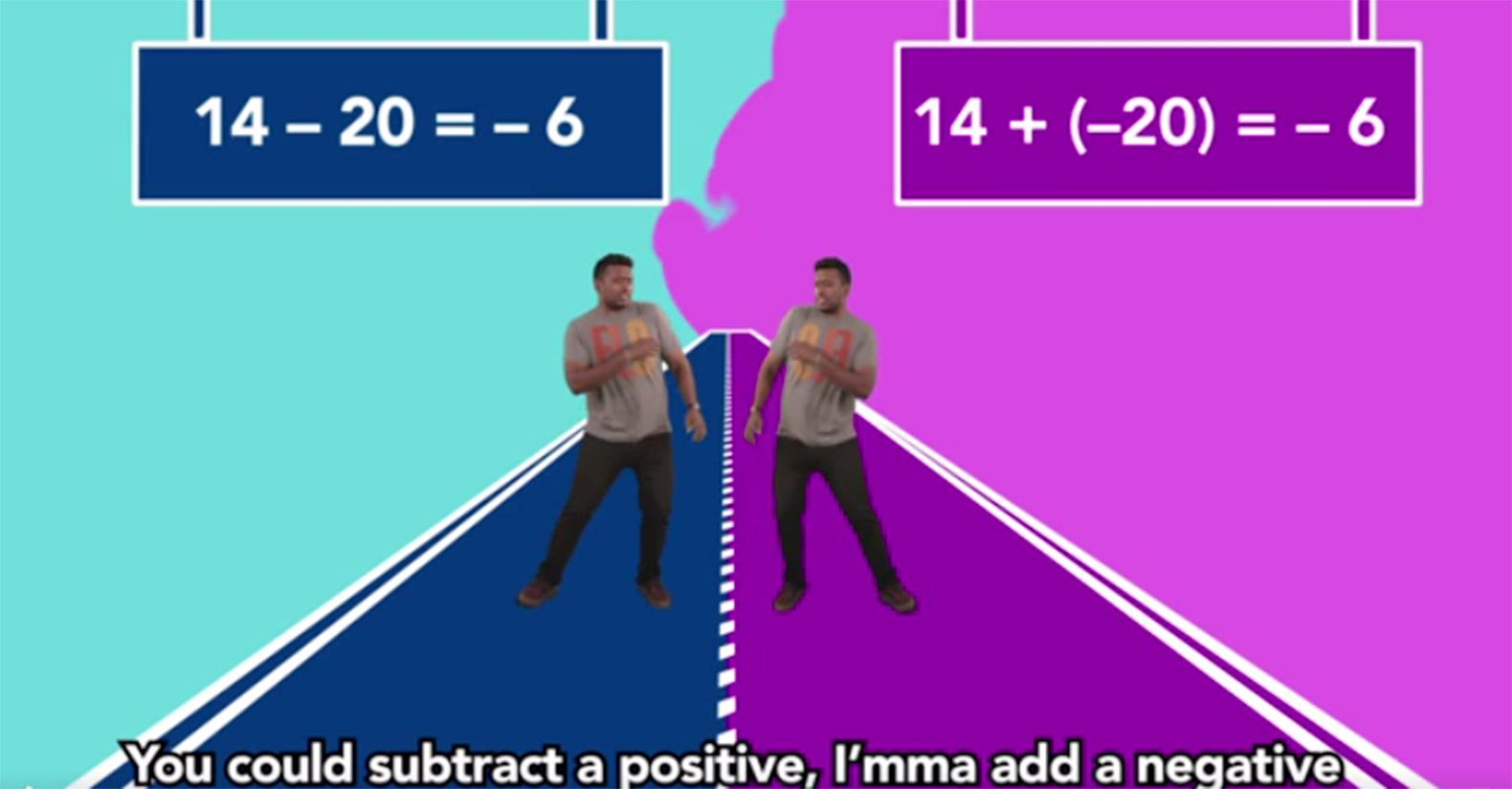 A Flocabulary rap demonstrates a math concept.