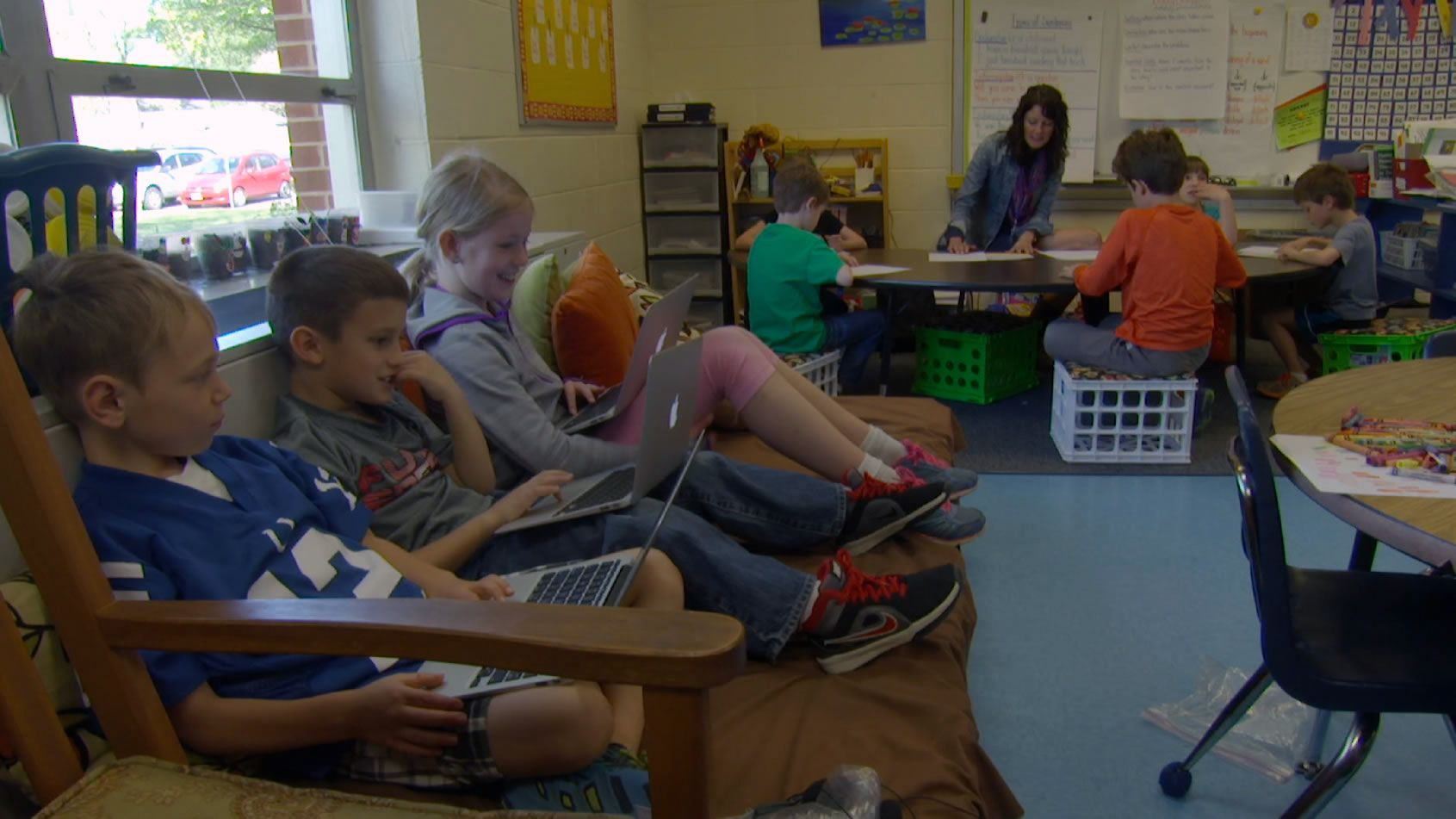 Classroom Design Aids Student Learning ~ Flexible seating elevates student engagement edutopia