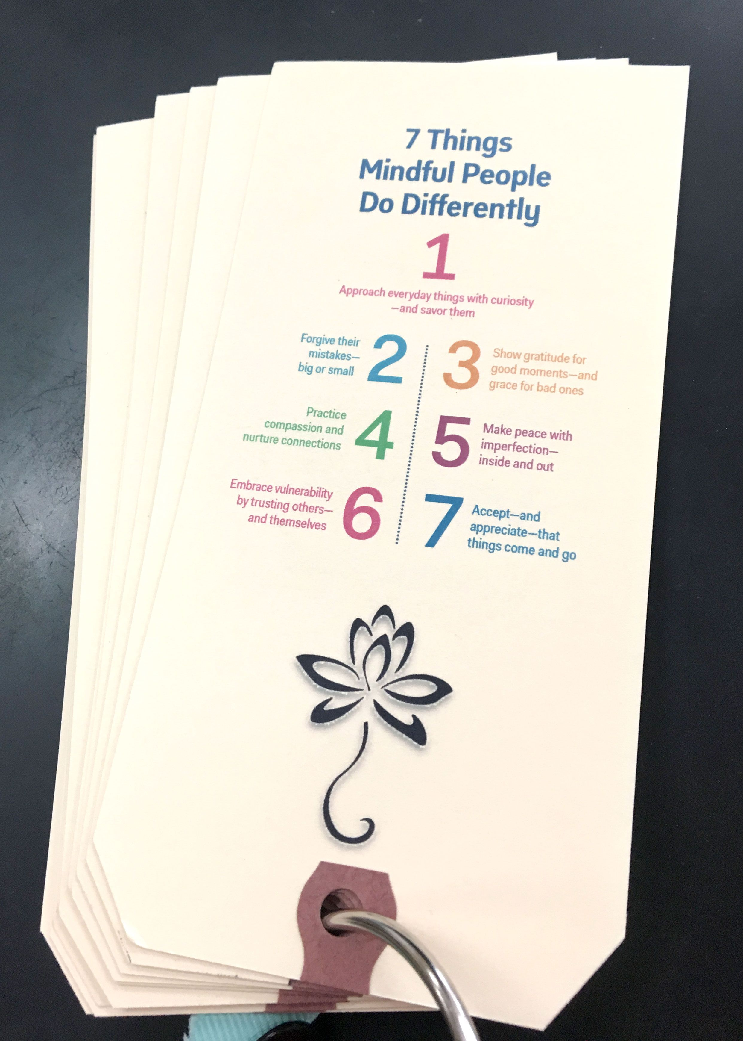 At Meigs Academic Magnet Middle School, SEL coordinator Susan Purcell-Orleck created simple mindfulness prompts.