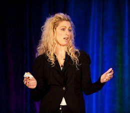 Gamer guru Jane McGonigal, who was keynoter for the event.