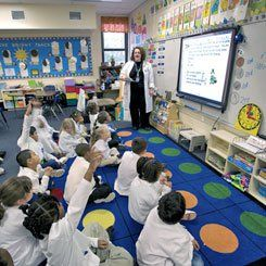 School Boards:  Interactive whiteboards enable teachers to integrate software, games, and other tools into daily lesson plans.
