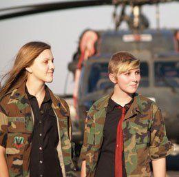 Moranda Hern (pictured left) and Kaylei Deakin.