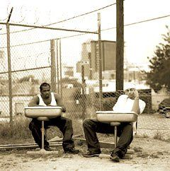 Poetic Soldiers:  Funkamentalz cofounders Ranson Kennedy (left) and Wade Colwell worked the periodic table of the elements into the lyrics of a rap song.