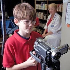 Lights, Camera, Action!: 	 		Fifth graders at Forest Lake film,