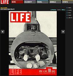 An April 1942 cover of Life magazine highlights the U.S. Army Air Force's Bomber Task Force.